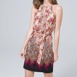 WHBM Metallic Chevron Blouson Dress